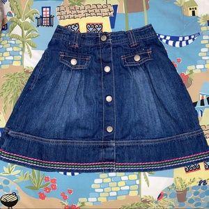 Gymboree denim skirt girls size 9